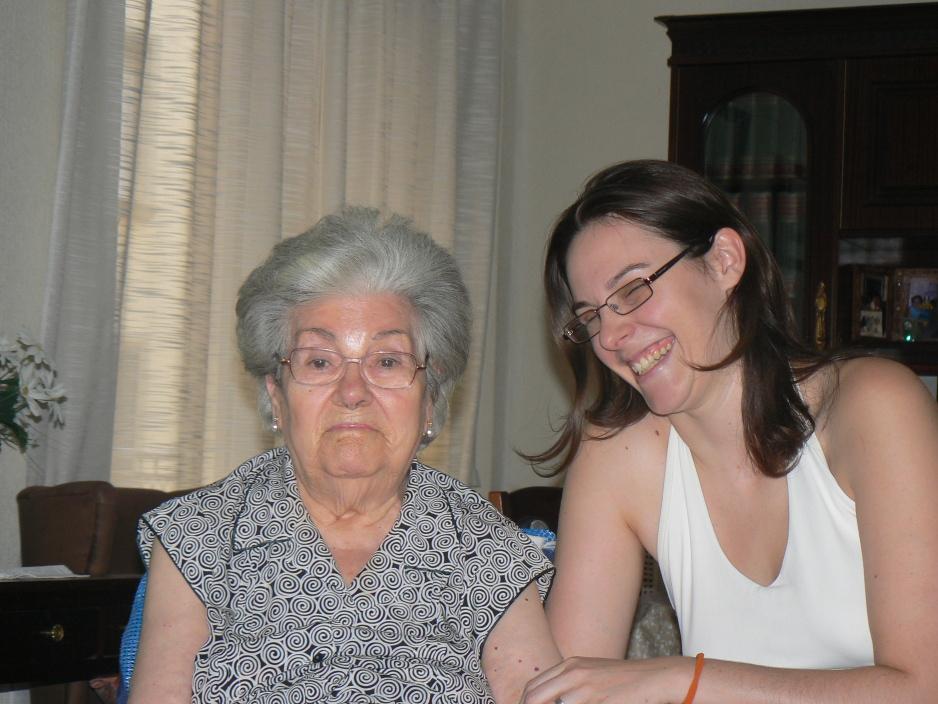Con mi abuela en mi última visita antes de que muriera.